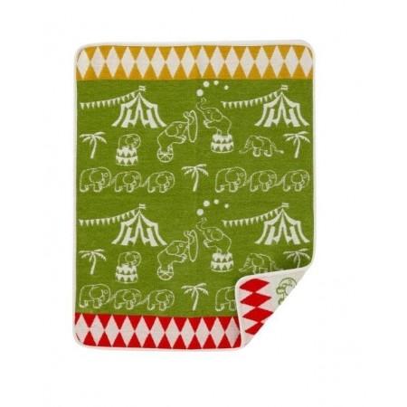 Katoenen wiegdeken - Elephant Circus
