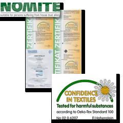 Verschillende product certificaten